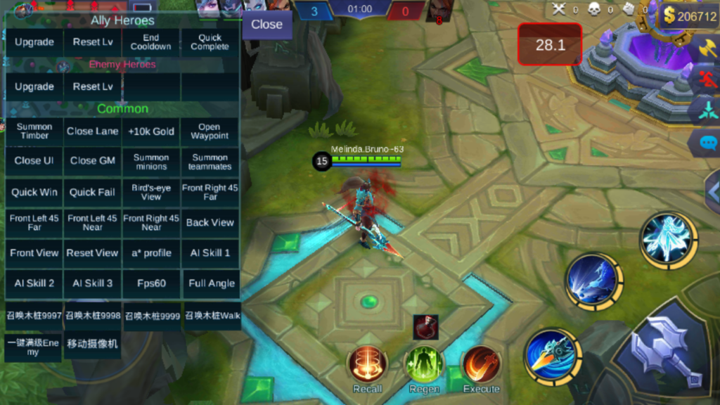 Mobile Legends Bang Bang GOD MOD APK 1.2.98.3043 (MOD MENU)