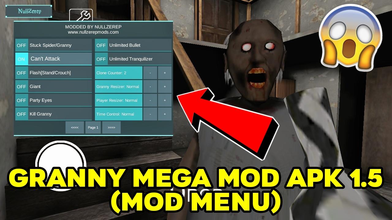 Download Granny MEGA MOD APK 1.5 (Mod Menu)